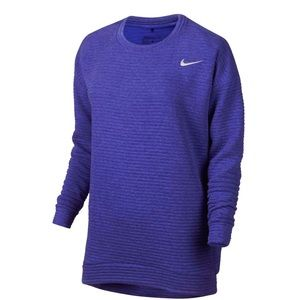 NIKE | Gold Bunker 3.0 Blue Ribbed Sweatshirt Med